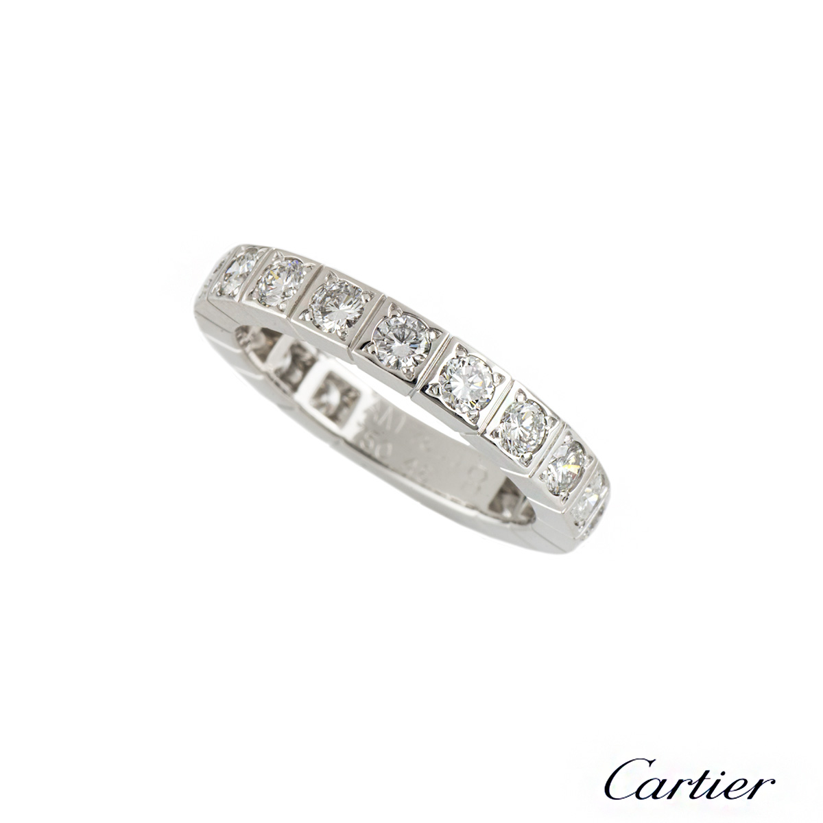 Cartier 18k White Gold Diamond Set Lanieres Ring
